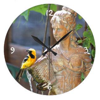 Oriole Large Round Clock