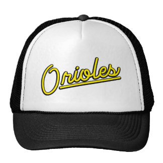 Orioles in yellow trucker hat