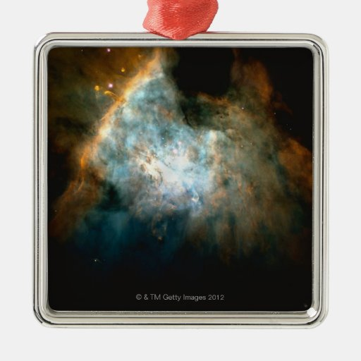 Orión 3 adorno cuadrado plateado