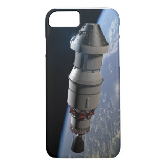 Orion capsule and Delta IV upper-stage in orbit iPhone 7 Case