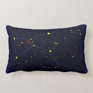 Orion constellation lumbar pillow