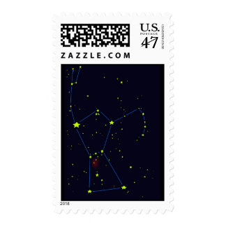 Orion constellation postage