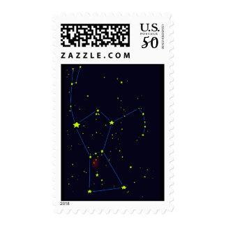 Orion constellation postage