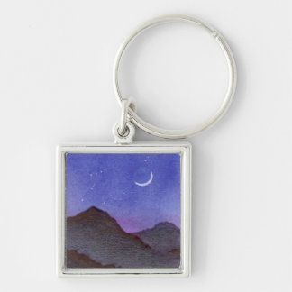 Orion & Crescent Moon Mountains Keychain