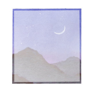 Orion & Crescent Moon Mountains Notepad