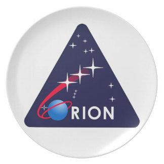 Orion Crew Module Melamine Plate