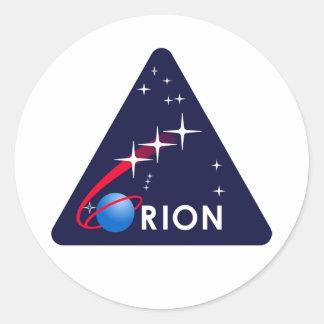 Orion Crew Module Round Sticker