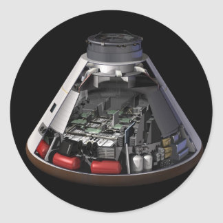 Orion Cutaway Classic Round Sticker