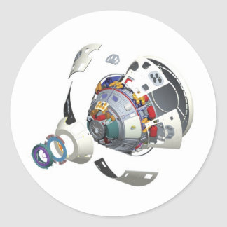 Orion Exploded View Classic Round Sticker