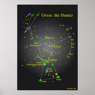 Orión la gran constelación del cazador póster