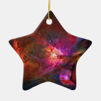 Orion Nebula and Trapezium Stars Double-Sided Star Ceramic Christmas Ornament