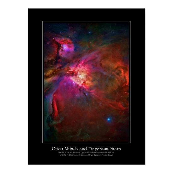 Orion Nebula and Trapezium Stars Poster