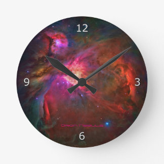 Orion Nebula and Trapezium Stars Round Clock