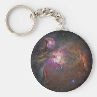 Orion Nebula Basic Round Button Keychain