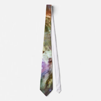 Orion Nebula Composition from Hubble and Spitzer Neck Tie