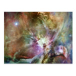 Orion Nebula Composition from Hubble and Spitzer Post Card