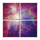 Orion Nebula Fuschia Pink NASA Canvas Print