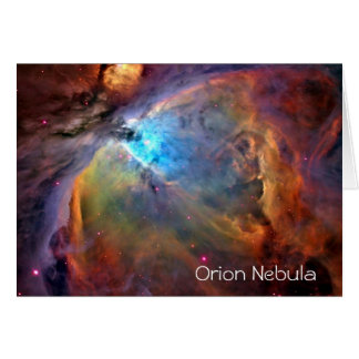 Orion Nebula Greeting Card Blank Inside