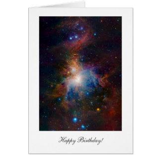 Orion Nebula - Happy Birthday Greeting Card