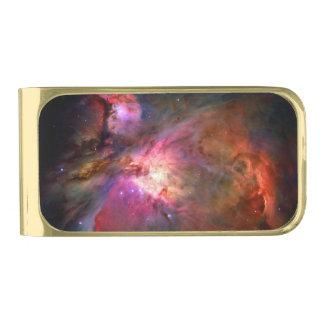 Orion Nebula Hubble Space NASA Gold Finish Money Clip