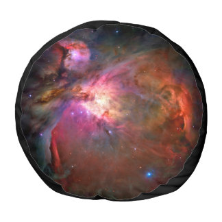 Orion Nebula Hubble Space NASA Round Pouf