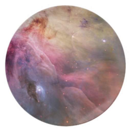 Orion Nebula Hubble Space Party Plate