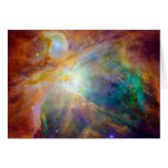 Orion Nebula Hubble Spitzer Space Greeting Card