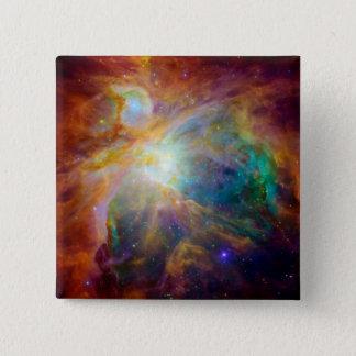 Orion Nebula Hubble Spitzer Space Pinback Button