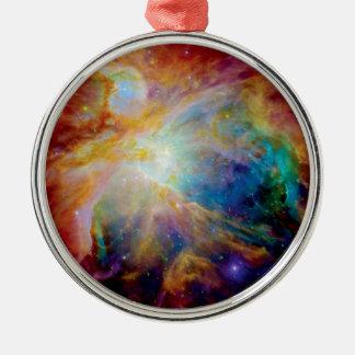 Orion Nebula Hubble Spitzer Telescope Space Photo Metal Ornament