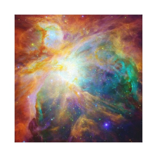 Orion Nebula (Hubble & Spitzer Telescopes) Gallery Wrap Canvas