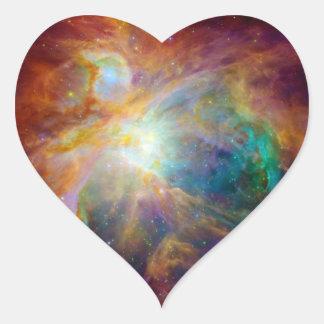 Orion Nebula (Hubble & Spitzer Telescopes) Heart Sticker