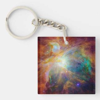 Orion Nebula (Hubble & Spitzer Telescopes) Keychain