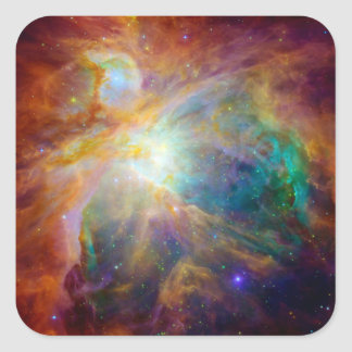 Orion Nebula (Hubble & Spitzer Telescopes) Square Sticker