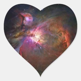 Orion Nebula (Hubble Telescope) Heart Sticker
