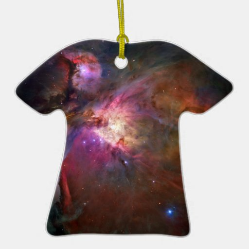 Orion Nebula (Hubble Telescope) Double-Sided T-Shirt Ceramic Christmas Ornament