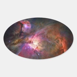 Orion Nebula (Hubble Telescope) Oval Sticker