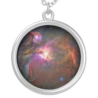 Orion Nebula (Hubble Telescope) Silver Plated Necklace