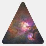 Orion Nebula (Hubble Telescope) Triangle Sticker