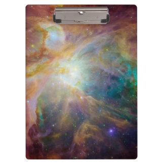 Orion nebula in space clipboard