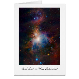 Orion Nebula - Interview Good Luck Greeting Card