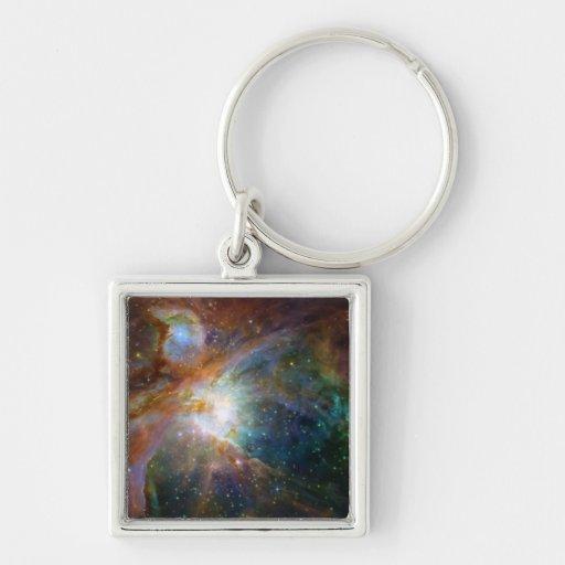 Orion nebula NASA orange starry sky Keychains