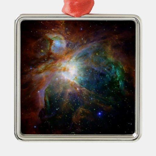Orion nebula NASA orange starry sky Christmas Tree Ornaments