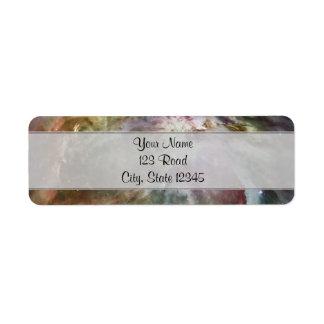 Orion Nebula Pastels Label
