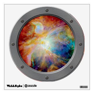 Orion Nebula Porthole View Wall Decal