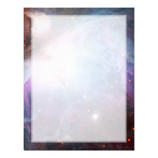 Orion Nebula Purple Space Letterhead