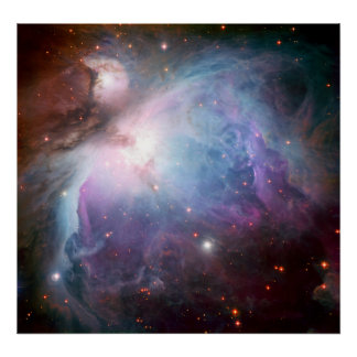 Orion Nebula Purple Space Posters