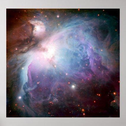 Orion Nebula Purple Space Posters