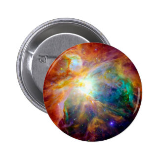 Orion Nebula Rainbow Galaxy Button