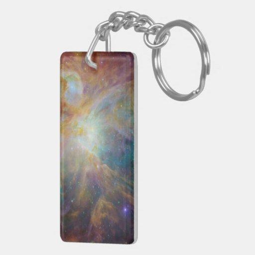 Orion Nebula Rectangular Acrylic Key Chain