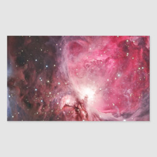 Orion nebula rectangular sticker